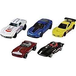 Includes five Hot Wheels vehicles with genuine die-cast parts Kids can collect their favorites and trade with friends Each 5-car pack is an instant collection 1:64-scale with authentic styling and eye-catching decos Makes a great gift for kids and co...