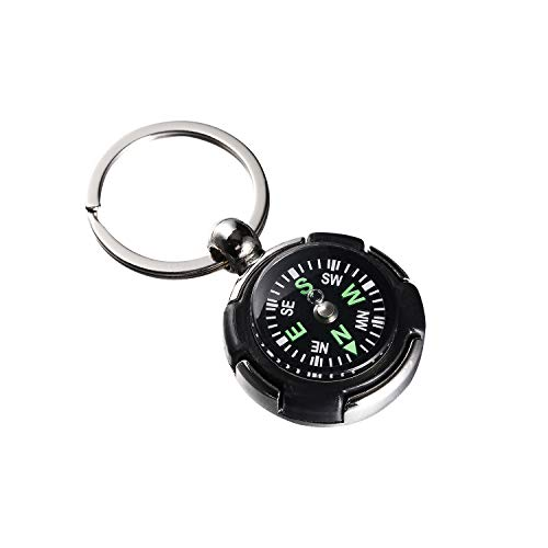 Yanw Mini Compass Keychain for Camping Climbing Hiking Traveling Tyre