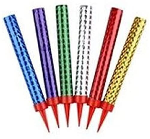 YAKODOFountain Candle Multicolour 6 per Pack x 12cm