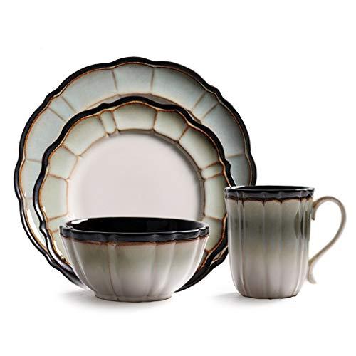Amerikanische Retro Kaffeetasse Keramik Teetasse mit großem Fassungsvermögen 450ml (15oz) Becher, Porzellan Haushaltsbecher Espressotasse geeignet for Nachmittagstee Frühstück Milch Latte