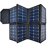 SUNGZU Solar Panel 130w Portable Solar Charger for SUNGZU Power Station 300W 500W, Waterproof and Foldable Solar Pack with 5V-USB 12V/19V-DC 5521-DC Output Solar Kit(Can't Charge 1000w)