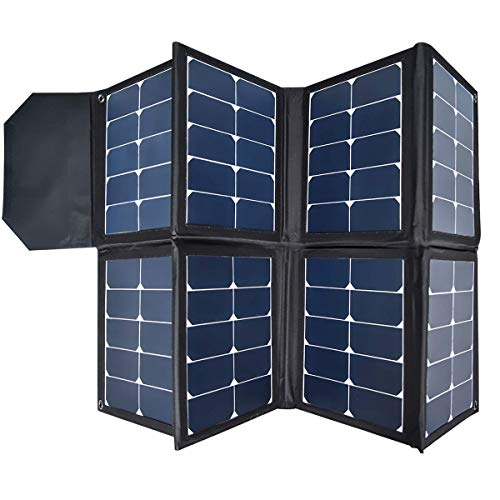 130W Portable Collapsible Solar Panel Charger SUNGZU Waterproof Nylon 600D Material Suitable for Mobile Phones, Laptops, Car Batteries, Generators
