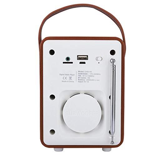 Qinyayoa Receptor de Radio portátil, Multifuncional, práctico, Radio FM, Altavoz, configuración del Reloj, Duradero para reproducción de música para recepción de FM
