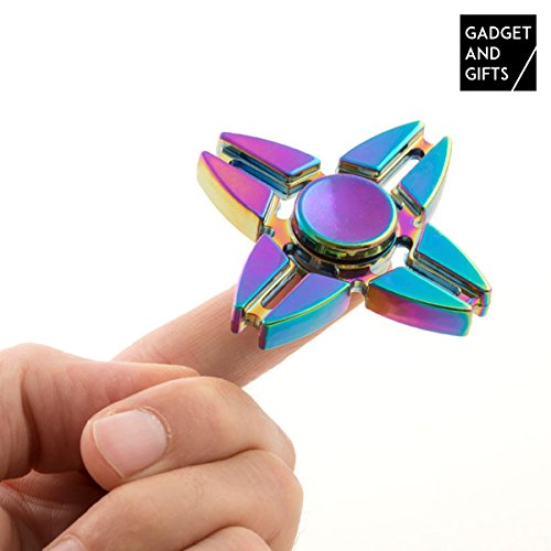 Crazy Gyro Spinner spinning in metallo Rainbow II, ca. 6 cm