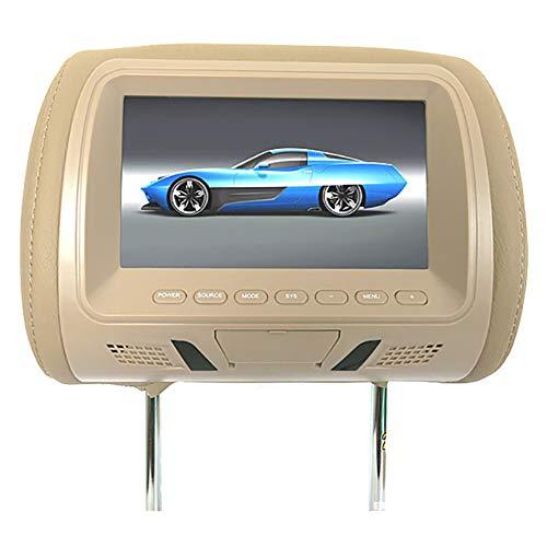 Best headrest monitors - Gilroy 7-Inch Car Headrest Mount, DVD Player, USB LCD Screen, Headrest Screen, Car Seat Monitor, Car Video Player, Headrest Covers, Remote Control Beige