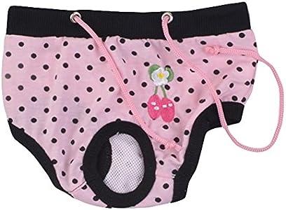 Da.Wa 1 pieza Mascota Femenina Perro Algodón Sanitario Fisiológico Menstrual Bragas Ropa Interior Perro Pañal Higiene Pantalón