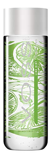 VOSS Water Flavored Sparkling Water, Lime Mint, 330 ml Plastic Bottles (12 Count), 133.8 Fl Oz