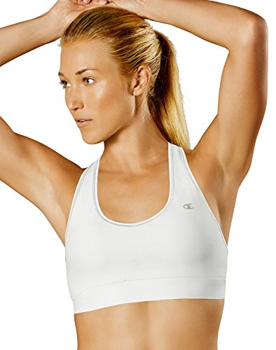 Champion Women's Absolute Sports Bra with SmoothTec Band, White, Medium