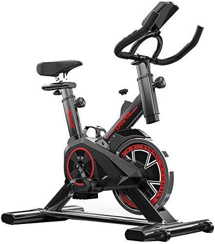 Girar la bici, LCD de visualización electrónica Lee Calorías del sensor del ritmo cardíaco, etc, manillares ajustables Asiento Resistencia, bicicleta estática electromagnética for el hogar con la rued