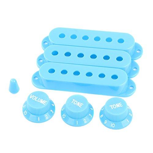 LYWS Juego de accesorios de repuesto para Fender Stratocaster, color azul