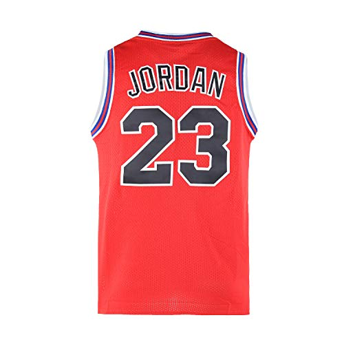 WELETION 23# Space Moive Jersey Mens Basketball Jersey Red Size XXXLarge