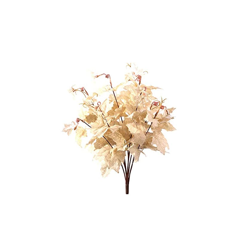 nuxn 2pcs artificial fall maple leaves branches plastic artificial maple leaves stems with 10 branches and 90 leaves fake silk flowers in vase for thanksgiving home party wedding decoration