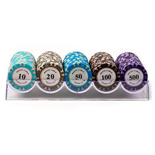 YYHJ Set Profesional de Poker con Fichas de póquer with Bandeja de Chip de Poker 100 Fichas PortáTil,Sin Coberturaa,Accesorios de Baccarat,Juegos de Mesa y Entretenimiento