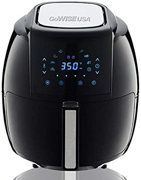 GoWISE USA 1700 Watt 5 8 QT 8 In 1 Digital Air Fryer And 50 Recipes For Your Air Fryer Book Black