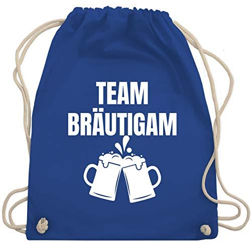 Shirtracer JGA Junggesellenabschied Männer - JGA Team Bräutigam weiß - Unisize - Royalblau - Bier - WM110 - Turnbeutel und Stoffbeutel aus Baumwolle