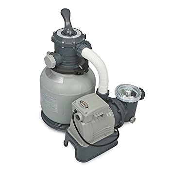 Intex Krystal Clear Sand Filter Pump for Above Ground Pools 12-inch 110-120V with GFCI