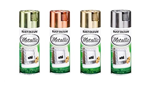 Rust-Oleum Metallic Color Spray Set - 11-Ounce Cans - Brass, Copper, Gold, Silver
