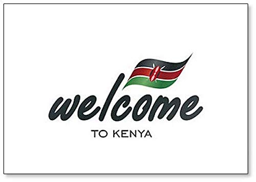 Kühlschrankmagnet, Motiv: Welcome to Kenia mit Flagge