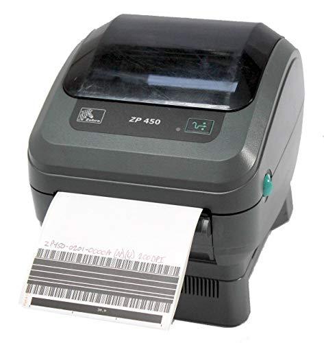 ZebraNet ZP 450 ZP450-0201-0000A Direct Thermal Barcode Label Printer Network USB Peeler 203dpi