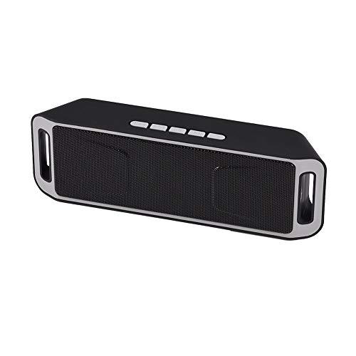 Mini portátil de altavoces Bluetooth, multi-función de altavoz inalámbrico, Bluetooth 4.0 estéreo USB Speaker Bass Apoyo TF subwoofer FM de radio de micrófono manos libres Cal (verde) jianyou