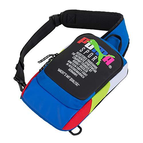PUMA Forecast Multitude Backpack Sling Shoulder Bag (Blue Multi)