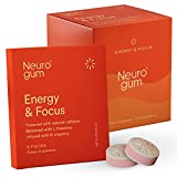 Neuro Gum Nootropic Cinnamon Flavor Energy Gum | Caffeine + L-theanine + B Vitamins | Sugar Free + Gluten Free + Non GMO + Vegan | Cinnamon Flavor (54 Count)