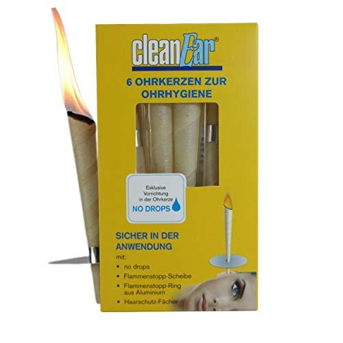 Ohrenkerzen - von CleanEar - 6er Pack - Ohrkerze mit Filter - Ohrenkerzen zur Reinigung Ihrer Ohren - Professionelle Ohrenpflege - Tinitus - Nebenhölen - Ohrschmalz - Wellness Kerze
