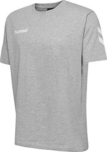 Hummel Hmlgo - Maglietta da Uomo in Cotone, Uomo, Maglietta, 203566-2006, Grigio, S