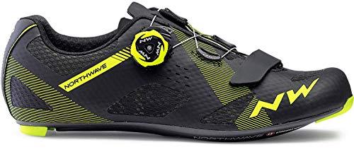 Northwave Storm Carbono Zapatos de Bicicleta de Carretera Negro/Amarillo