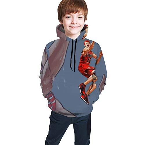 shenguang Slam Dunk Teen Hooded Sweate Hoodies Abrigo Sudadera clásica Cómoda Chaqueta para niños Niñas