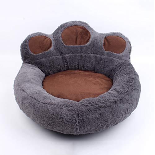 BTIR huisdierbed, kattenbed van schuimrubber met ringen, drukontlasting, auto leuk en comfortabel, verwarmend, S, Grijs