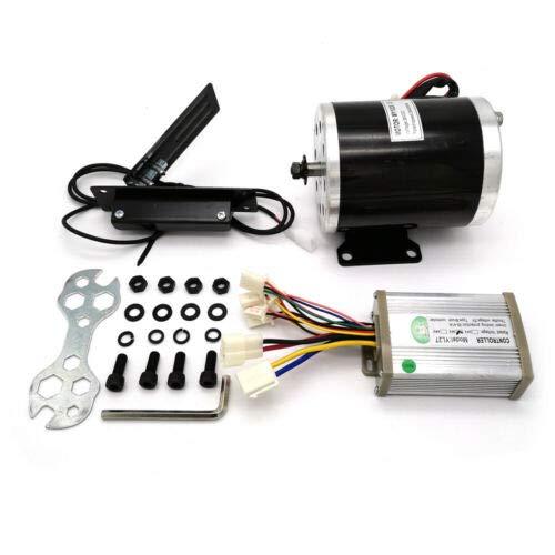 Kit de conversión de bicicleta eléctrica con controlador y pedal 2800 rpm 36 V CC 800 W motor de cepillo, para karts, scooters, bicicleta eléctrica, bicicleta motorizada