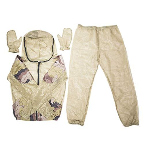 BESPORTBLE Bug Jacket Muggenpak Unisex Mesh Zomer Bug Draag met capuchon Full Body Beschermend Pak met Handschoenen voor Outdoor Vissen Wandelen Camping Tuinieren (L/XL)