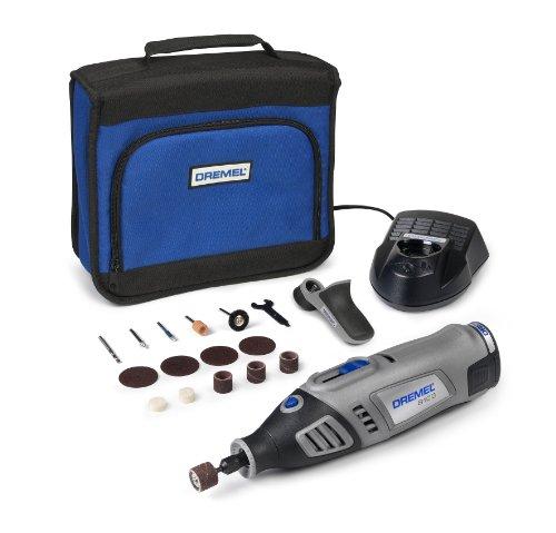 Dremel 8100 Accu-multitool (7.2 V (Italiaanse versie) set met 15 opzetstukken, toerental 5.000-30.000 1/min voor graveren, frezen, snijden, slijpen, slijpen, polijsten en reinigen)