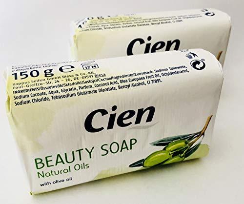 2 er Pack - Cien Beauty Soap Natural Oils - Seife mit Oliven Öl - with olive oil (Olive Oil)