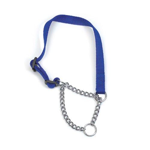 Erfgoed Nylon & Ketting Check Kraag, 45-60 cm, Blauw