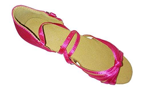 Mädchen Tanzschuhe mit rosa/rot/apricotfarben für lateinamerikanische Tänze