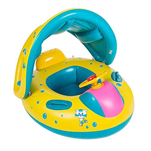 Wishliker Flotador para bebé con Asiento,Respaldo,Techo del