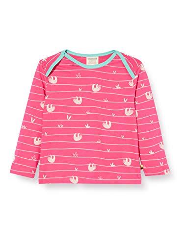 loud + proud Mädchen Longsleeve Shirt Allover Print Organic Cotton Langarmshirt, Rosa...