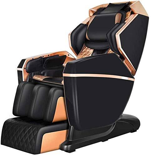 Massagesessel Zero Gravity Massagesessel, Ganzkörper-Massage Air 3-Row-Footroller Roller Massage von Hals zu Hip Yoga Stretching Funktion w / Bluetooth Heizung Professionelle Massage und Relax Chair p