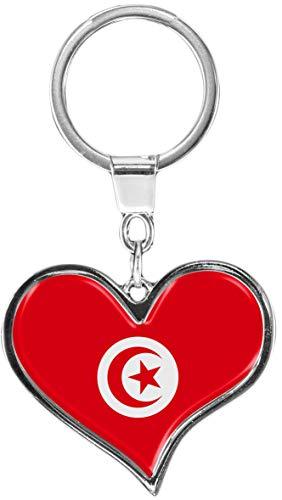 metALUm Portachiavi/Bandiera Tunisia / 6611074S
