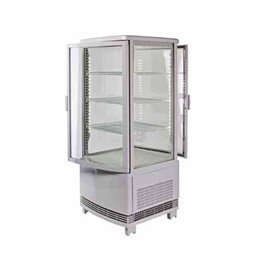 Winco CRD-1, Countertop Refrigerated Beverage Display, 120V, 180W, Curved Doors