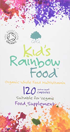 G&G Vitamins Kid's Rainbow Food - Organic Whole Food Multivitamin - 120 Vegan Capsules - Ideal for Children