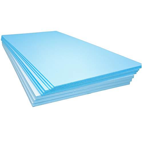 Paneles de aislamiento de espuma XPS 1200 x 600 x 20 mm – Cantidad 11 – Cobertura 7,92 m2 – Calefacción eléctrica y de agua para suelo radiante de azulejos laminados de poliestireno extruido térmico