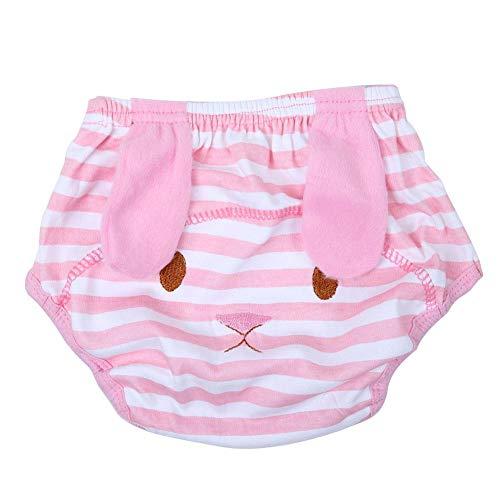 Baby schattige katoenen luier broek ademend pasgeborenen lekvrij ondergoed vak wasbaar herbruikbare luiers zwembroek voor kinderen Small Roze konijn.