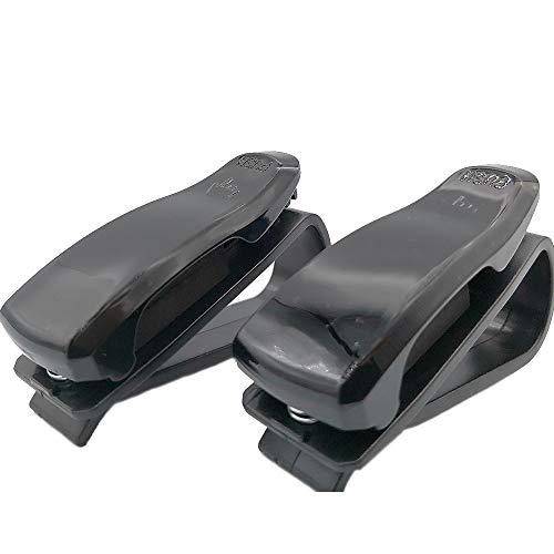 thelowprice 2 Pack Soporte de Gafas de Sol para Coche con Clip de Color Negro. Accesorio Universal para Visera de Auto con Accesorio Incluido para Soportes para Tarjeta.