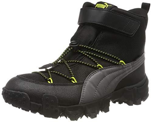 Puma Unisex-Kinder Maka PURETEX V Jr Sneaker, (Castlerock-Nrgy Yellow 02), 38 EU