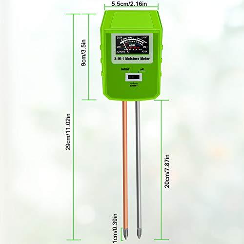 Bearbro Monitor de Agua del Suelo, Medidor de Humedad del Suelo ...