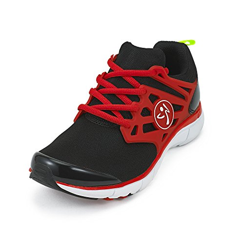 Zumba Women's Athletic Dance Workout Sneakers Fashion, Red, 5