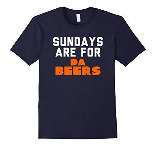Mens Chicago Sunday Beer Drinking Party T Shirt Medium Navy